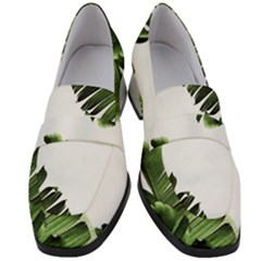 Banana Leaves Women s Chunky Heel Loafers by goljakoff