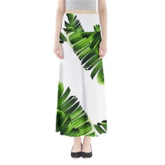 Green Banana Leaves Full Length Maxi Skirt