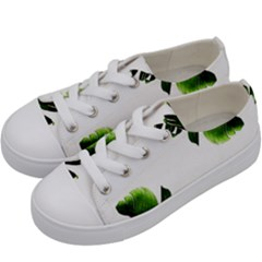 Green Banana Leaves Kids  Low Top Canvas Sneakers by goljakoff