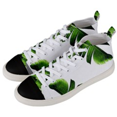 Green Banana Leaves Men s Mid Top Canvas Sneakers by goljakoff