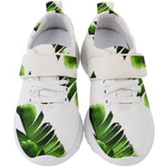 Green Banana Leaves Kids  Velcro Strap Shoes by goljakoff