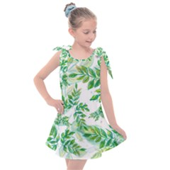 Tiny Tree Branches Kids  Tie Up Tunic Dress by WensdaiAmbrose