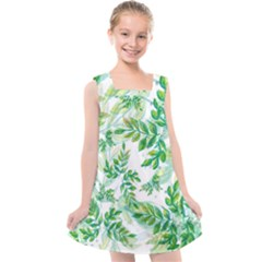 Tiny Tree Branches Kids  Cross Back Dress