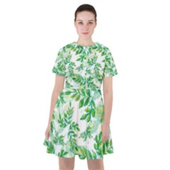 Tiny Tree Branches Sailor Dress