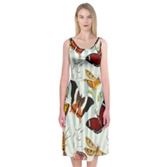 My Butterfly Collection Midi Sleeveless Dress