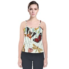 My Butterfly Collection Velvet Spaghetti Strap Top