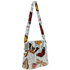 My Butterfly Collection Zipper Messenger Bag by WensdaiAmbrose