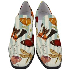 My Butterfly Collection Slip On Heel Loafers by WensdaiAmbrose