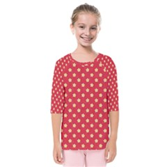 Red Hot Polka Dots Kids  Quarter Sleeve Raglan Tee