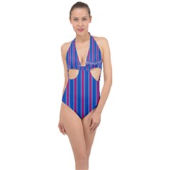 Digital Art Artwork Abstract 3d Halter Front Plunge Swimsuit