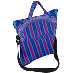 Digital Art Artwork Abstract 3d Fold Over Handle Tote Bag by Jojostore