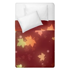 Leaf Leaves Bokeh Background Duvet Cover Double Side (single Size)