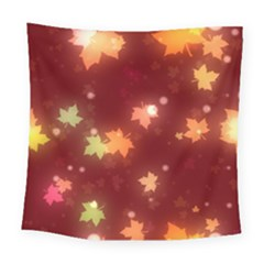 Leaf Leaves Bokeh Background Square Tapestry (large) by Mariart