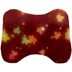 Leaf Leaves Bokeh Background Head Support Cushion by Mariart