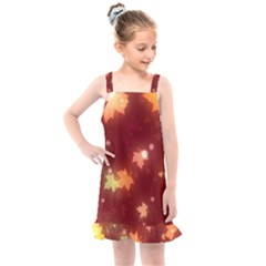 Leaf Leaves Bokeh Background Kids  Overall Dress by Mariart