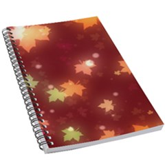 Leaf Leaves Bokeh Background 5 5  X 8 5  Notebook by Mariart