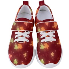 Leaf Leaves Bokeh Background Women s Velcro Strap Shoes by Mariart