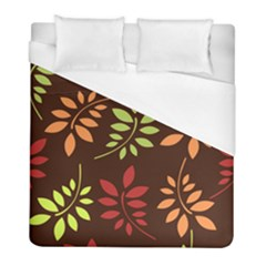 Leaves Foliage Pattern Design Duvet Cover (full/ Double Size) by Mariart