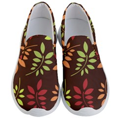 Leaves Foliage Pattern Design Men s Lightweight Slip Ons by Mariart