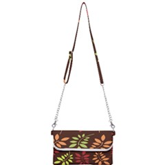 Leaves Foliage Pattern Design Mini Crossbody Handbag by Mariart