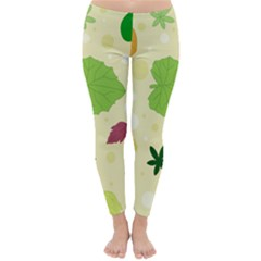 Leaves Background Leaf Classic Winter Leggings