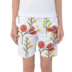 Tree Auntumn Leaf Women s Basketball Shorts by Alisyart