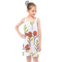 Tree Auntumn Leaf Kids  Overall Dress by Alisyart