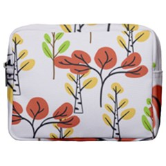 Tree Auntumn Leaf Make Up Pouch (large)