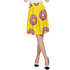 Background Donuts Sweet Food A Line Skirt by Alisyart