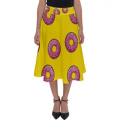 Background Donuts Sweet Food Perfect Length Midi Skirt