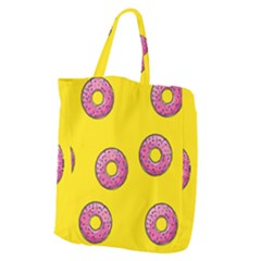 Background Donuts Sweet Food Giant Grocery Tote