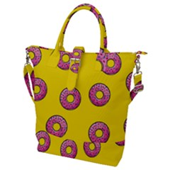 Background Donuts Sweet Food Buckle Top Tote Bag by Alisyart