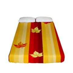 Autumn Fall Leaves Vertical Fitted Sheet (full/ Double Size)