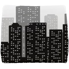 Building Town City Night Urban Seat Cushion by AnjaniArt