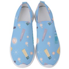 Bathroom Pattern Bath Shampoo Tube Men s Slip On Sneakers by AnjaniArt