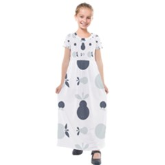 Apples Pears Continuous Kids  Short Sleeve Maxi Dress by Desi8477