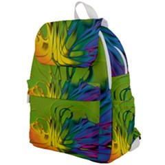 Abstract Pattern Lines Wave Top Flap Backpack
