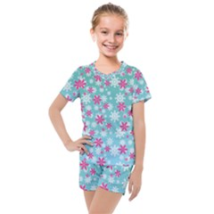 Background Frozen Fever Kids  Mesh Tee And Shorts Set by Desi8477