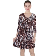 Luxury Animal Print Ruffle Dress by tarastyle