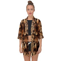 Luxury Animal Print Open Front Chiffon Kimono by tarastyle