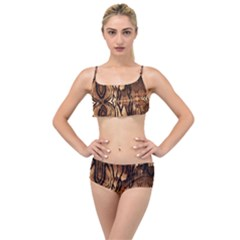 Luxury Animal Print Layered Top Bikini Set by tarastyle