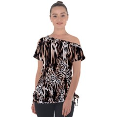 Luxury Animal Print Tie Up Tee by tarastyle