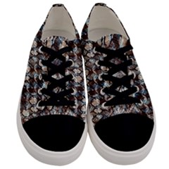 Luxury Animal Print Men s Low Top Canvas Sneakers