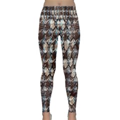 Luxury Animal Print Lightweight Velour Classic Yoga Leggings by tarastyle
