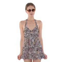 Luxury Animal Print Halter Dress Swimsuit  by tarastyle