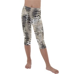 Luxury Animal Print Kids  Lightweight Velour Capri Leggings  by tarastyle