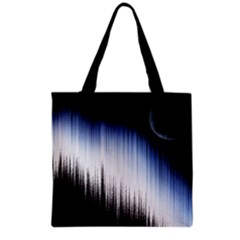 Spectrum And Moon Grocery Tote Bag by LoolyElzayat