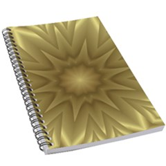 Background Pattern Golden Yellow 5 5  X 8 5  Notebook