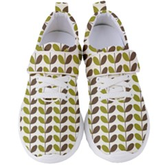 Leaf Plant Pattern Seamless Women s Velcro Strap Shoes