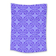 Decor Pattern Blue Curved Line Medium Tapestry